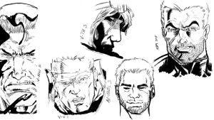 Eddie Brock studies by SymbioteRevenge