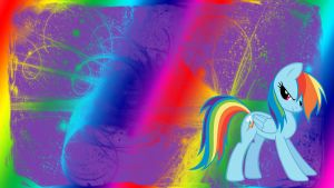 Rainbow Dash is Awesome WP by bluepaws21