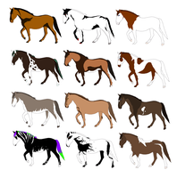 FREE Horse Adopts CLOSED by galianogangster