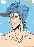 Grimmjow in Spring by Arisu-Ami-Chan