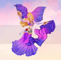Disney Belly Dancers: Fan Veils by Blatterbury