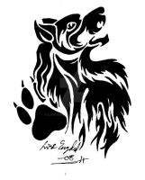 Tattoo: Wolf and paw by LARvonCL