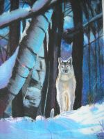 Wolf in snow by Lyesmith