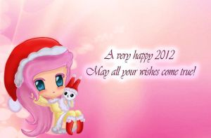 Happy new year from Fluttershy by ChupaCat