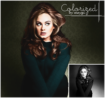 Colourized Adele by meygidesigns