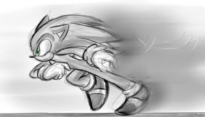 Sonic Running Practise by mino-the-cat