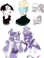 Character sketches by AnArtistCalledRed