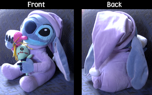 Stitch plushie in pajamas by SweetDevilStitch