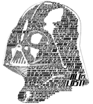 Typographic Darth Vader by Bakageta-Koto
