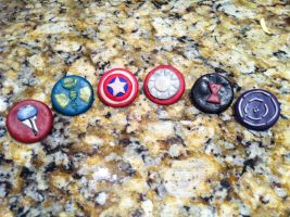 Avengers Buttons by RiaVeg