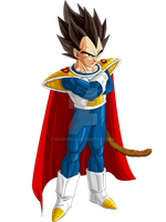 Vegeta U-13 Colored by ruga-rell