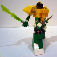The Green Power Ranger in Lego by AndiusMaximus