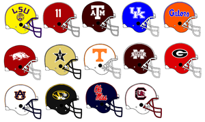 SEC Helmets 2014 by Chenglor55