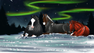 The finnish Prince and his harem under the Aurora by LiaLithiumTM