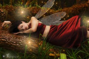 Sleeping beauty faerie style by tytaniafairy