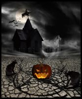 Halloween Scenery by MorbidMorticia