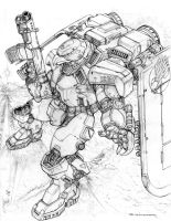 RIFTS NG Red Hawk Power Armor by ChuckWalton