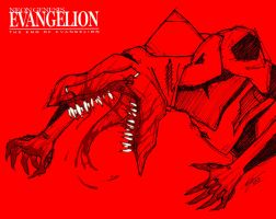 Evangelion Unit 5-13 crazy red by Epsthian-Artist