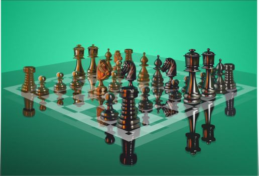 Chess on a glass board by Alexxxx1