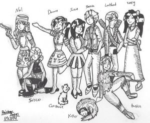 Old OCs Suzie And Friends Redrawn by Rainbow-Pastel
