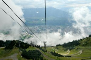 Cable car above Innsbruck 1 by wildplaces