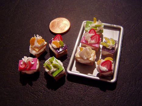 Miniature Cake Slices by ChocolateDecadence