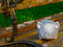 bench piggy by machete-genie