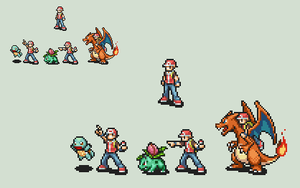 PKMN Trainer RED Fire Emblem Style by Gregarlink10