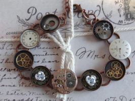 Vintage Steampunk Bracelet by Hiddendemon-666