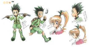[HxH]sketch Gon Bistket by Tangmo2356