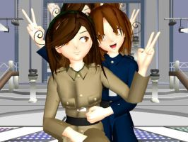 MMD Italy Sisters + Download by Sickena