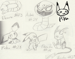 Pokemon Sketches4 :23-27: by sami86404