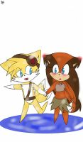 Chibi Tails x Sticks by piplup641