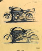 Motorcycle Sketches by zakforeman