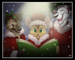 Caroling with Jay, Pagan, and Ren by Nyaasu