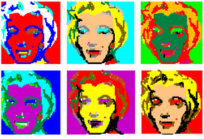 Marilyn Munroe - Mario Paint by funksoulfather