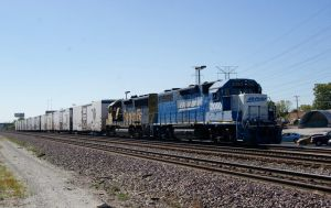 BNSF Blue Smurf and Santa Fe by JamesT4