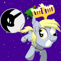 Derpy's Ready for Ghostmas by Here-for-the-ponies