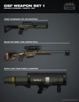 GSF Weapon Set 1 by FutureFavorite