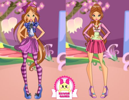 Winx Club Flora Season 6 Outfits Dress Up by heglys