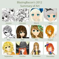 2012 Art Summary by BlazingBacon