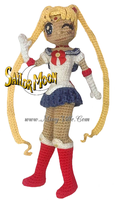 SailorMoon Crochet Barbie Doll by MissyBaque