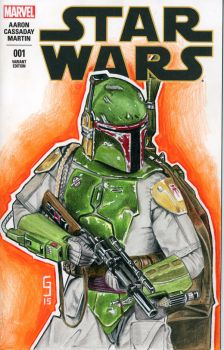 Boba Fett Sketch Cover by Geekincognito