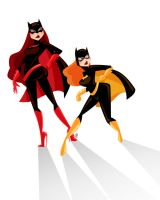 Batwoman and Batgirl by GenevieveFT