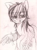 sketch 2 - Rainbow Dash after work by Imalou
