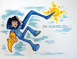 John: Do the Windy Thing by reb-chan