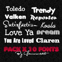10 Fonts by glamorousart