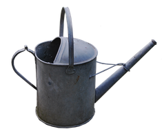 Metal Watering Can PNG by Alz-Stock-and-Art