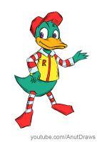 Ronald Duck by AnutDraws