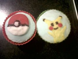 Pokemon cupcakes by niksqiky